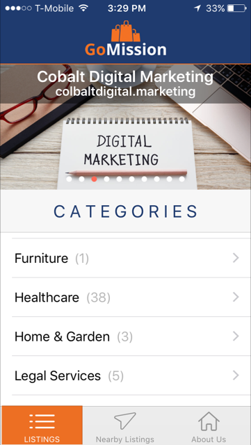 listings page